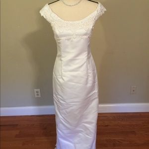Jessica McClintock white wedding dress 6